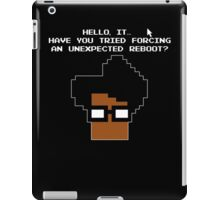 8 Bit Retro Moss Unexpected Reboot T Shirt iPad Case/Skin