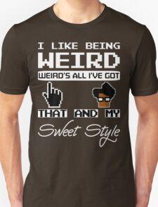 8 Bit Retro Moss I Like Being Weird Unisex T-Shirt