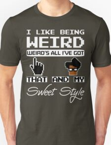 8 Bit Retro Moss I Like Being Weird T-Shirt