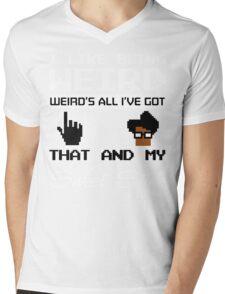 8 Bit Retro Moss I Like Being Weird Mens V-Neck T-Shirt