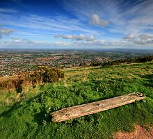 The Malvern Hills: Worcestershire View by Angie Latham