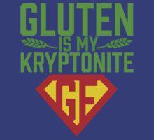Gluten Is My Kryptonite T Shirt by bitsnbobs