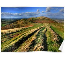 The Malvern Hills: North Hill View Poster