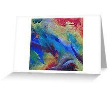 """Marea Solar"" original abstract artwork Greeting Card"