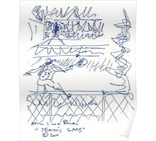 Tennis game(C2011) original thumbnail sketch scan Poster