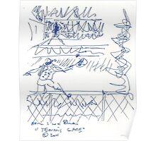 Tennis game(C2011) original thumbnail sketch scan Poster