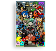 Video Game History Canvas Print