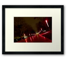 UNSW at night 02 Framed Print