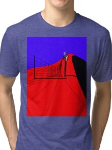 Ned walking the Fence Line Tri-blend T-Shirt