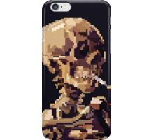 Skull of a Skeleton with Burning Cigarette iPhone Case/Skin