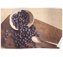 Beauty of Blueberries Poster