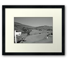 Waiting for mail at box 360 Framed Print