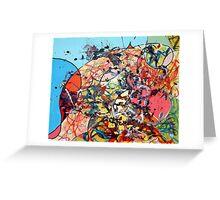 Motorcar Painting By Random No.2 Greeting Card