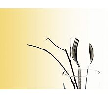 Cutlery in a Vase Photographic Print