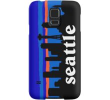 Seattle, skyline silhouette Samsung Galaxy Case/Skin