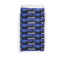 Seattle, skyline silhouette Duvet Cover
