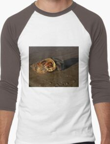Hermit Crab on Fahan Beach Men's Baseball ¾ T-Shirt