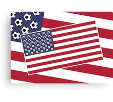 United States of Soccer Canvas Print