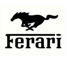Funny Ferrari Shirt Art Print