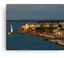 Mallory Square at Sunset Canvas Print