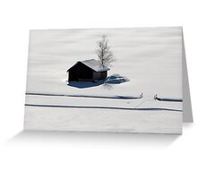 the silence is white #1 Greeting Card