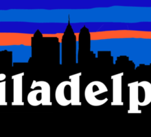 Philadelphia, skyline silhouette Sticker