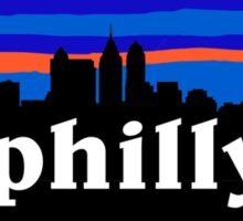 Philly, skyline silhouette Sticker