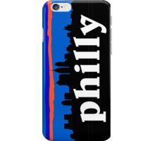 Philly, skyline silhouette iPhone Case/Skin