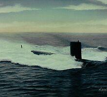 U.S. Submarine Topeka by William H. RaVell III