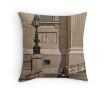 Waiting in Budapest 01 Throw Pillow