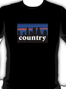 Country music. Austin skyline silhouette T-Shirt