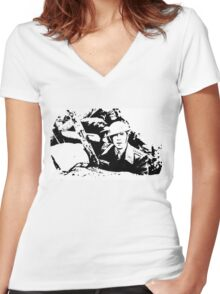 Parade's end - the trench Women's Fitted V-Neck T-Shirt