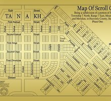 Map Of Scroll City by James Eddy