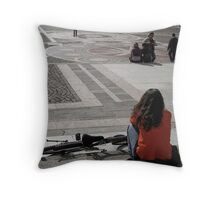 Waiting in Budapest 02 Throw Pillow