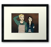 Andy & April Framed Print