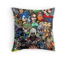 Video Game History Throw Pillow