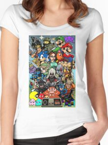 Video Game History Women's Fitted Scoop T-Shirt