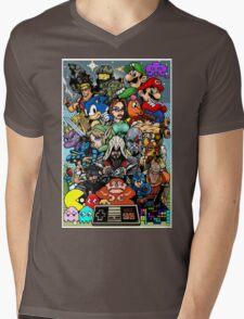 Video Game History Mens V-Neck T-Shirt