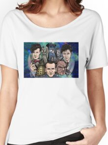 Faces Of Dr. Who Women's Relaxed Fit T-Shirt
