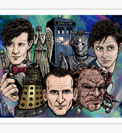Faces Of Dr. Who Sticker