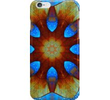 Saphire Blue Flowers and Ice iPhone Case/Skin