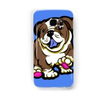 Happy Bulldog Puppy Brown  Samsung Galaxy Case/Skin