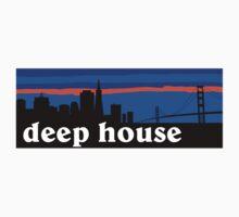 Deep house. San Francisco skyline silhouette Kids Clothes