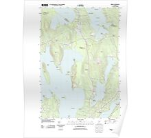 Maine USGS Historical Map Rome 20110906 TM Poster
