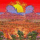 Purple Desert Towers by Deborah Dillehay
