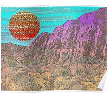 Purple Cliffs Desert Poster