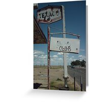 Old Route 66 Garage Adrian Greeting Card