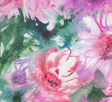 watercolor flowers Sticker