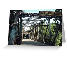 Devil's Elbow Over Piney River Greeting Card