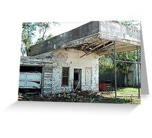 Oklahoma Garage Ruin Greeting Card